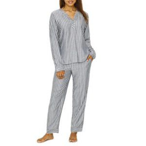 Ellen Degeneres ED Gray Striped Pajama Set